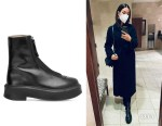 Lily Aldridge's The Row Black Ankle Boots