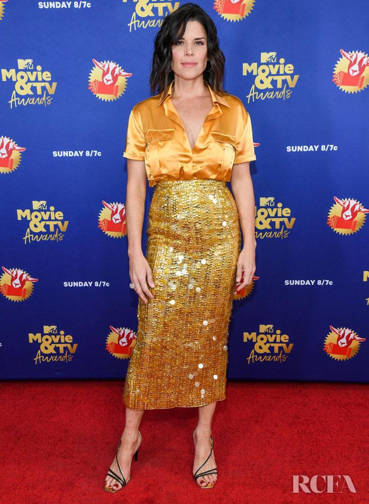 Neve Campbell Wore Aliétte 2020 MTV Movie & TV Awards