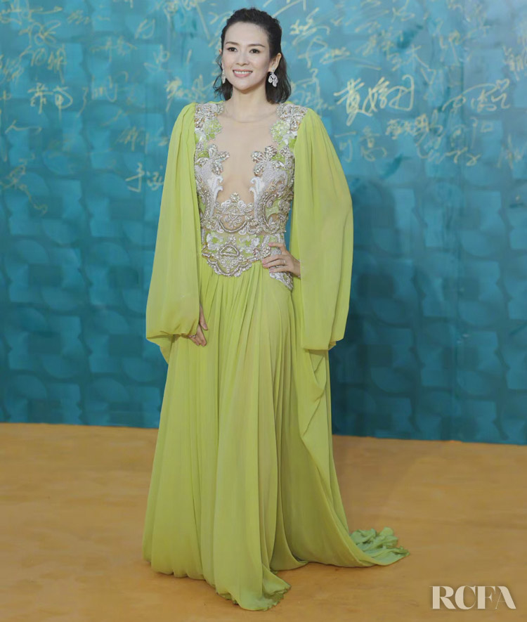 Zhang Ziyi Wore Elie Saab Haute Couture To The Hainan Film Festival Closing Ceremony