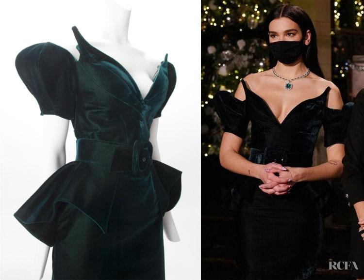 Dua Lipa Performed On SNL Wearing Mugler Haute Couture