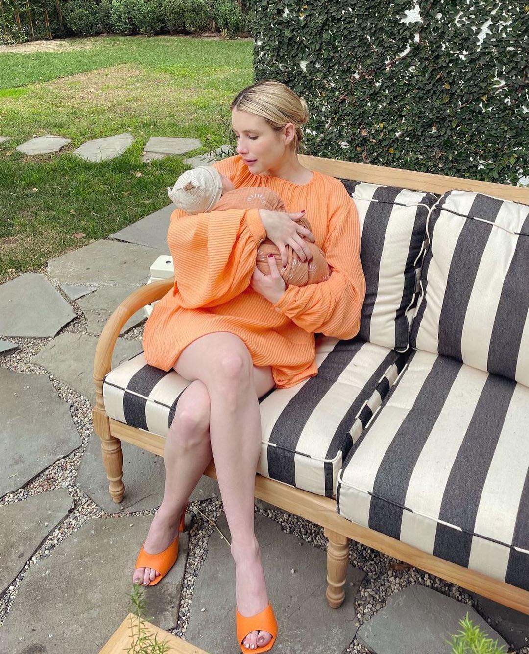 Emma Roberts Wore Stella McCartney Introducing Rhodes Robert Hedlund To The World