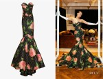 Vatanika's Richard Quinn Floral & Polka Dot Mermaid Gown