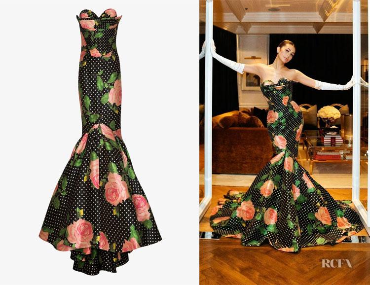 Vatanika's Richard Quinn Floral & Polka Dot Mermaid Gown