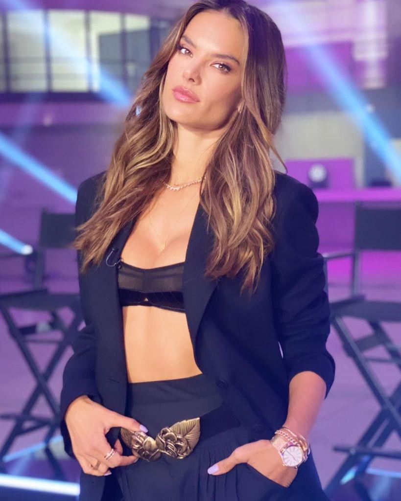 Alessandra Ambrosio Wore Balmain & Alberta Ferretti For Germany's Next Top Model