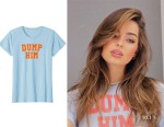 Addison Rae's Retro Famous Clothing 'Dump Him' T Shirt