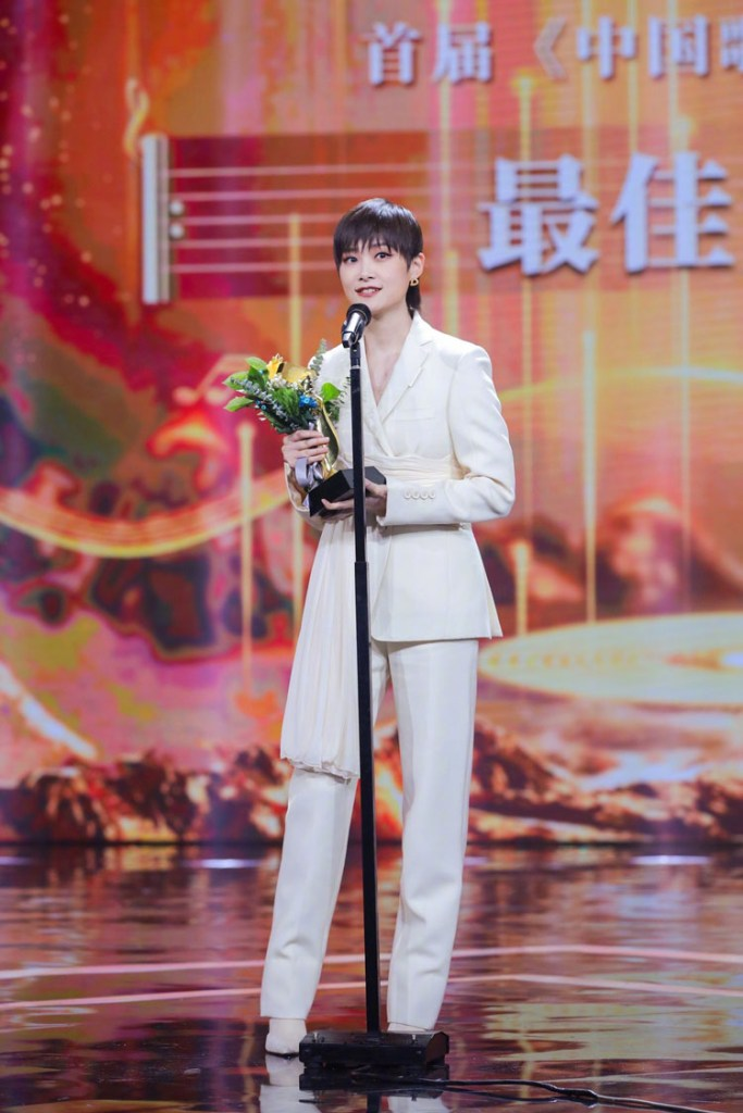 Chris Lee 李宇春 Wore Burberry For Top 2020 China Music Billboard Awards