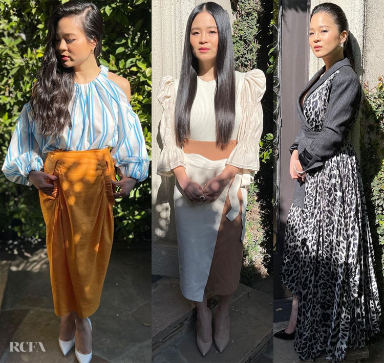 Kelly Marie Tran Promotes 'Raya and the Last Dragon' With Three Looks