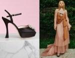 Rita Ora's Roger Vivier RV Bouquet Strass Buckle  Sandals