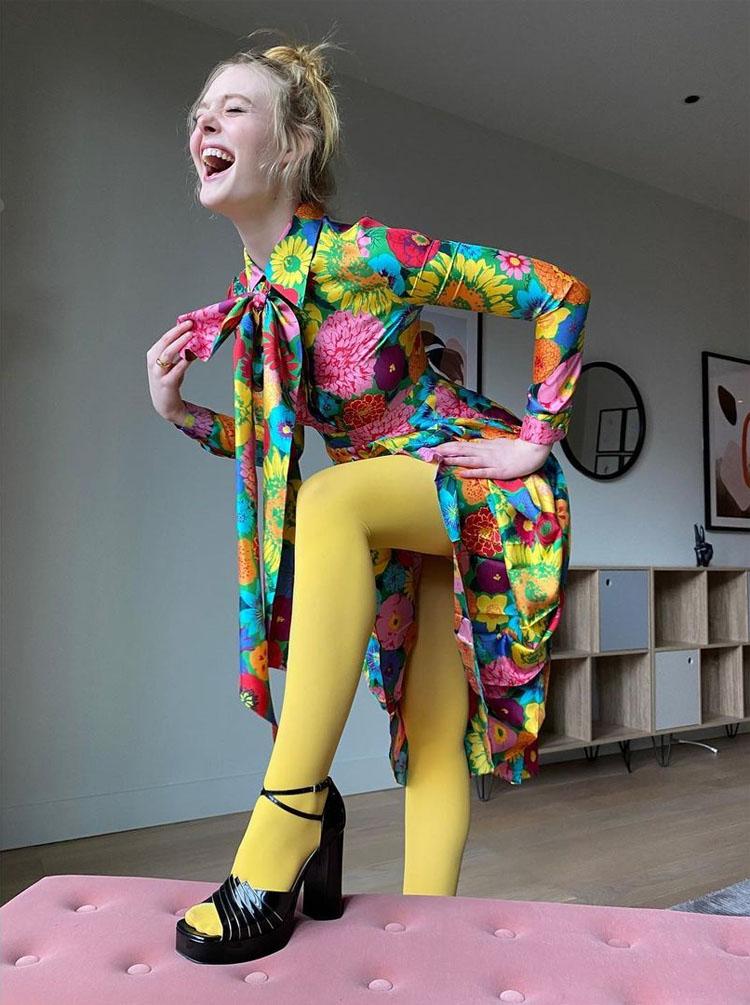Elle Fanning Flower Bombs Us In Gucci