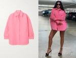 Kylie Jenner's Valentino Pink Oversized Shirt