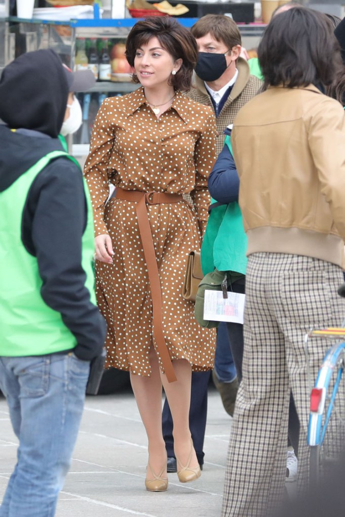 On The 'House Of Gucci Set With Lady Gaga In Max Mara
