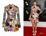 Taylor Swift's Oscar de la Renta Floral-Embroidered Dress