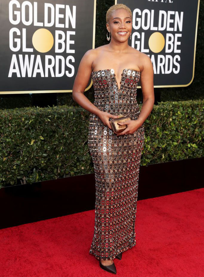 Tiffany Haddish Wore Alberta Ferretti To The 2021 Golden Globe Awards