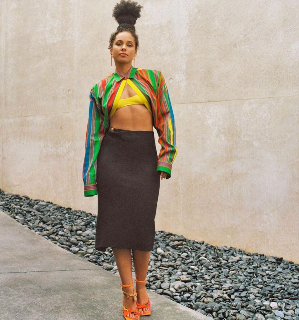 Alicia Keys Wore Versace For The 'Gram