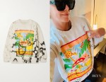 Charlize Theron's Stella McCartney + Greenpeace Printed Sweatshirt