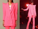 Chris Lee's Balmain Fluo Pink Blazer