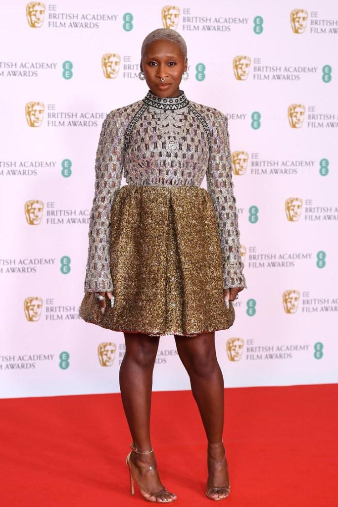 Cynthia Erivo Wore Louis Vuitton To The 2021 BAFTAs