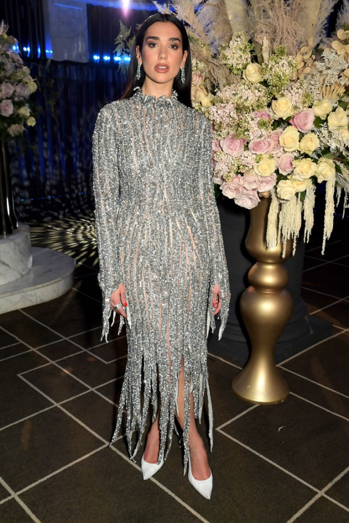 Dua Lipa Wore Two Balenciaga Looks To Elton John's Oscar Viewing Party