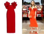 Jamie Chung's Oscar de la Renta Flower-Embellished Dress