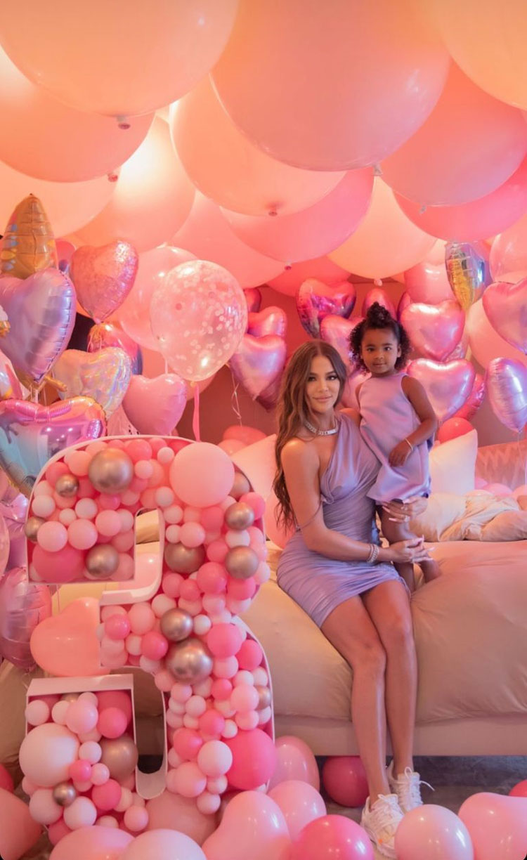 Khloe Kardashian Wore Bottega Veneta Celebrating True's 3rd Birthday