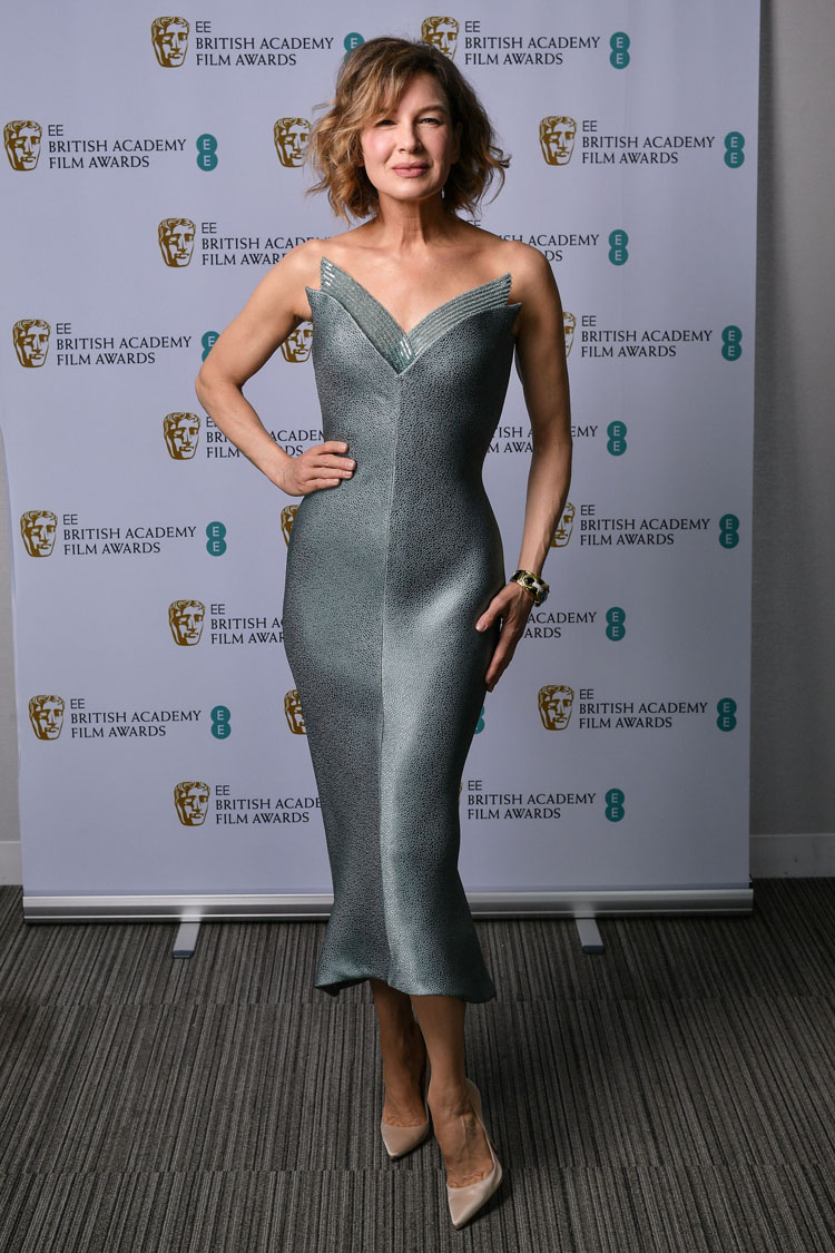 Renée Zellweger Wore Armani Prive To The 2021 BAFTAs