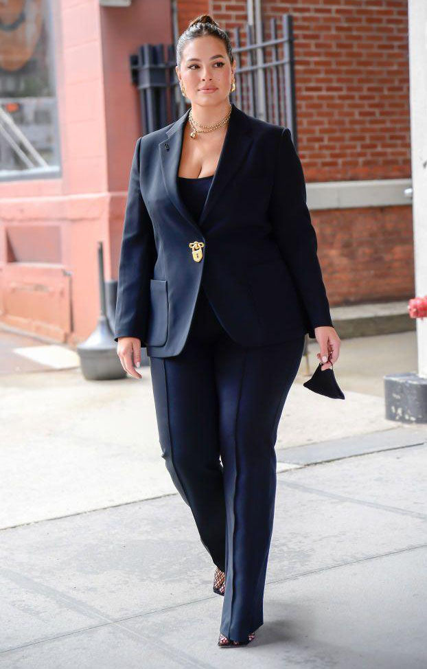 Ashley Graham Guest Hosts CBS This Morning in Schiaparelli