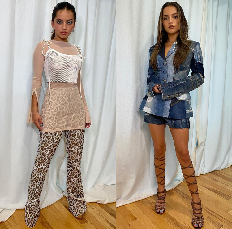 Isabela Merced Wore Dolce & Gabbana & Cong Tri Promoting 'Spirit Untamed'
