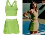 Kendall Jenner's Alo Airbrush Real Bra Tank & Tennis Skirt