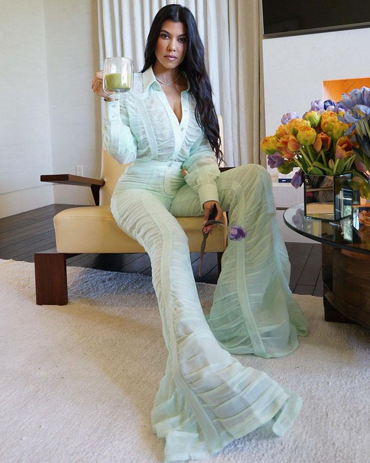 Kourtney Kardashian Wore Salvatore Ferragamo Promoting Poosh