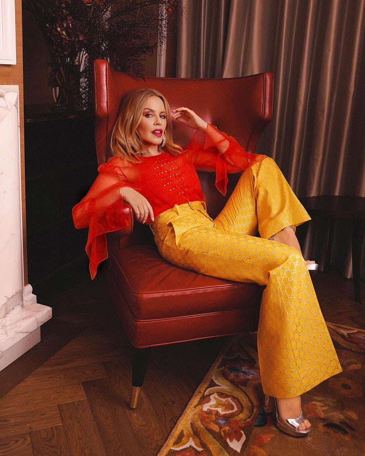 Kylie Minogue Wore Gucci For The 'Gram