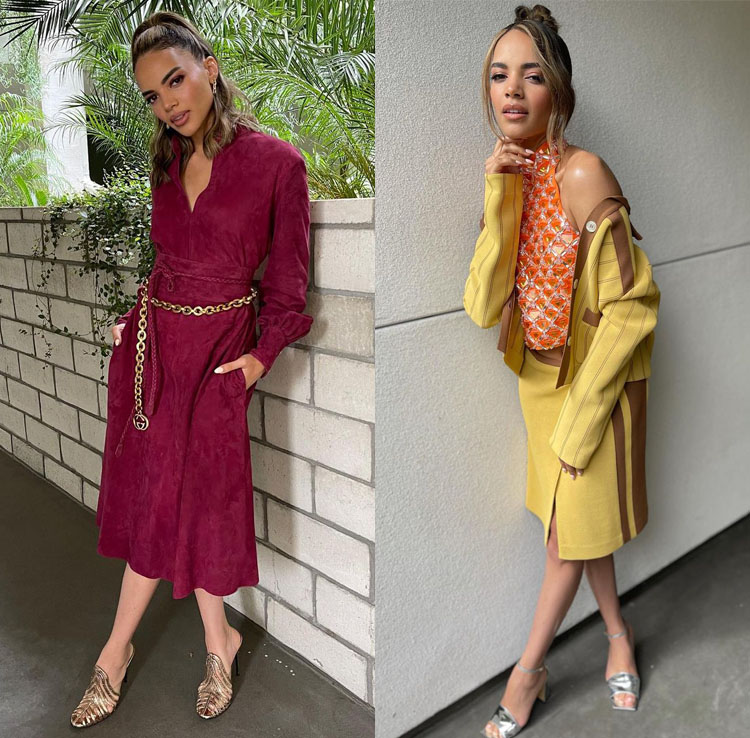 Leslie Grace Wore Gucci & Miu Miu Promoting 'In The Heights'