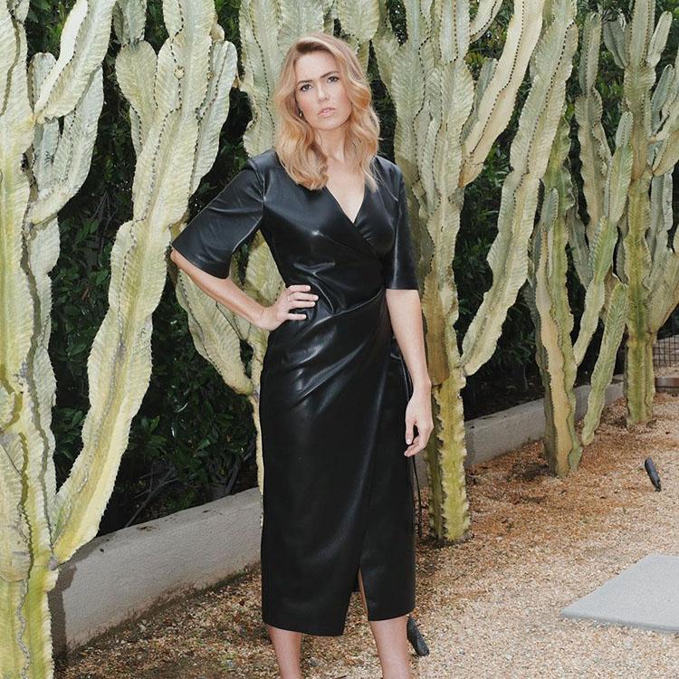 Mandy Moore Gives Your Summer Blonde Locks Their Instagram Debut Wearing Nanushka