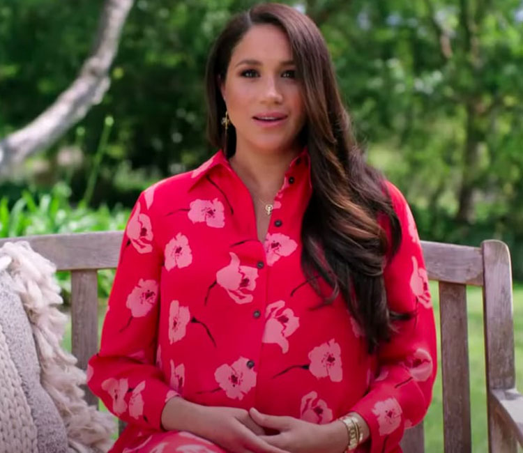 Meghan, Duchess of Sussex Wore Carolina Herrera For The Global Citizen VAX Live Event