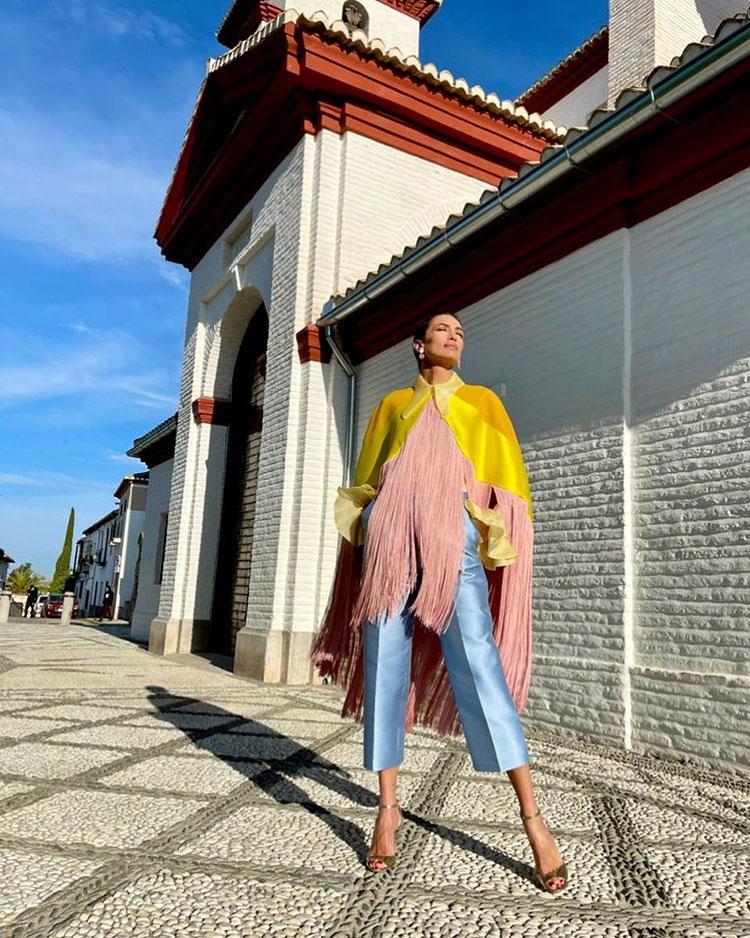 Nieves Álvarez Wore Beatriz Peñalver For Flash Moda