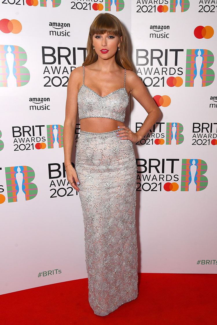 Taylor Swift Wore Miu Miu To The BRIT Awards 2021