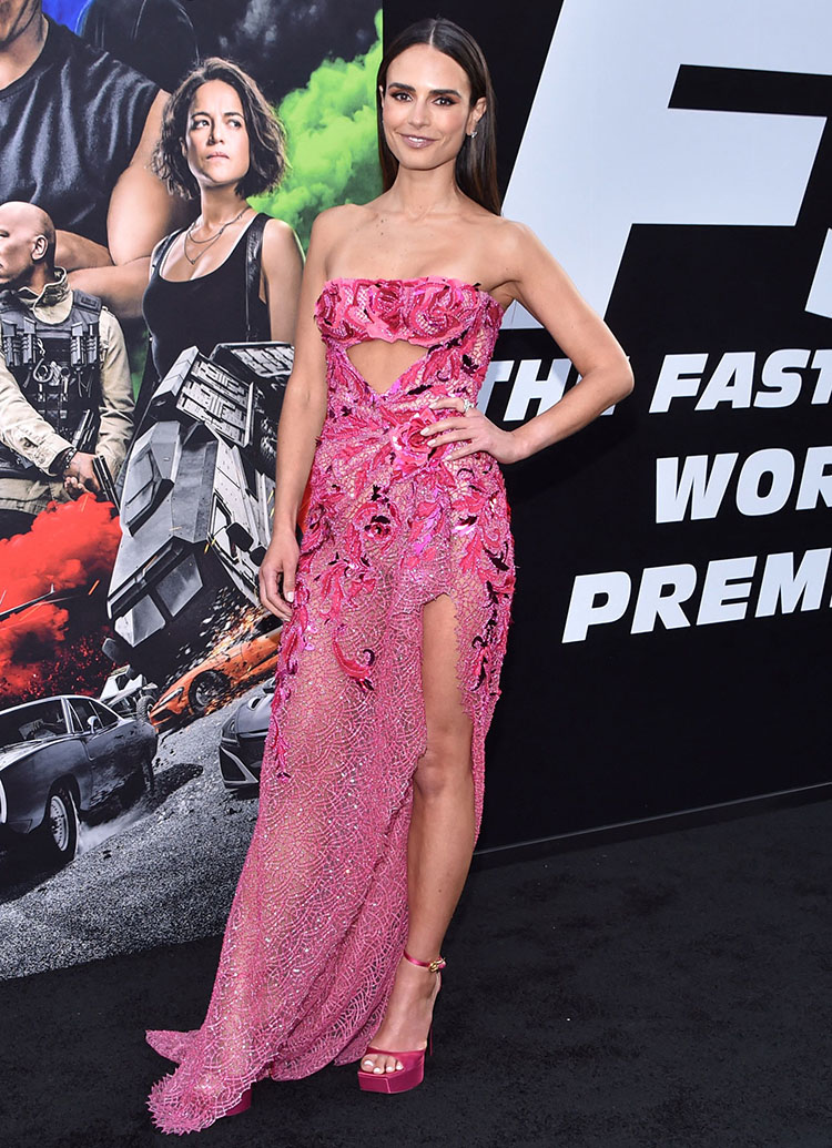 Jordana Brewster Wore Atelier Versace To The 'Fast & Furious: F9' World Premiere