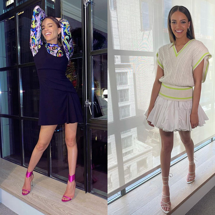 Leslie Grace Wore Versace & David Koma Promoting 'In The Heights'
