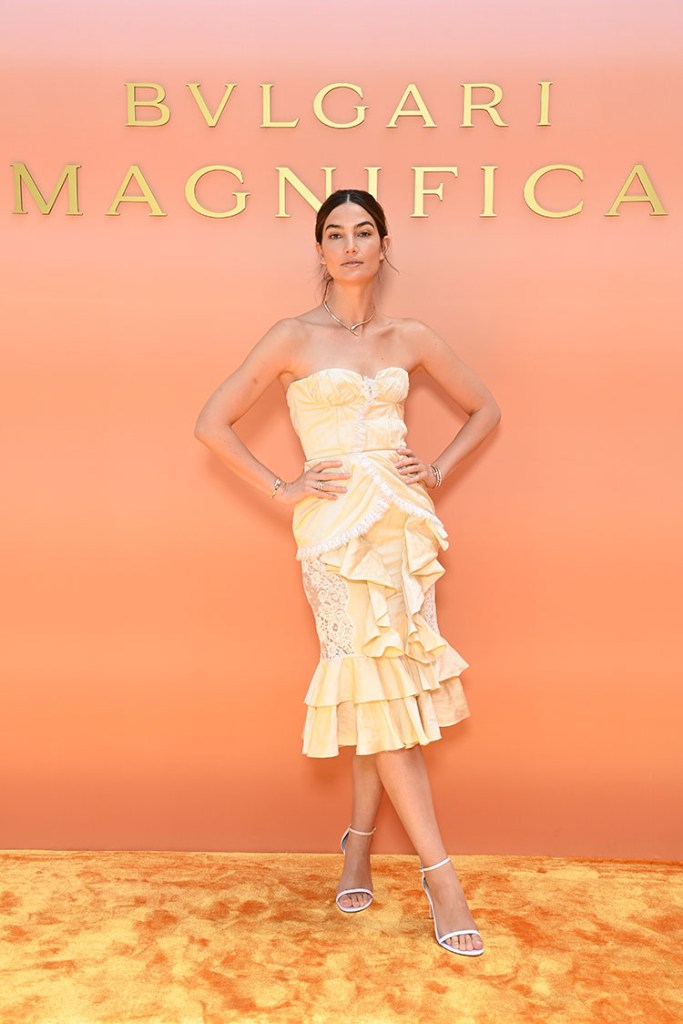 Lily Aldridge Wore Brock Collection To The Bvlgari Lunch