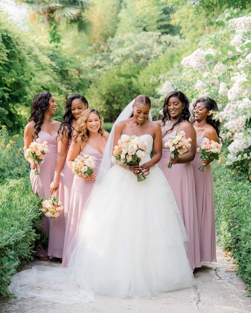 Issa Rae Wed Louis Diame In Vera Wang Couture