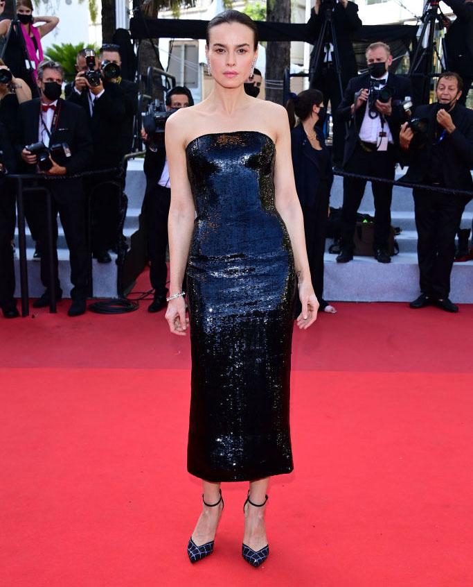 Kasia Smutniak in Armani Prive - 'Tre Piani (Three Floors)' Cannes Film Festival Red Carpet