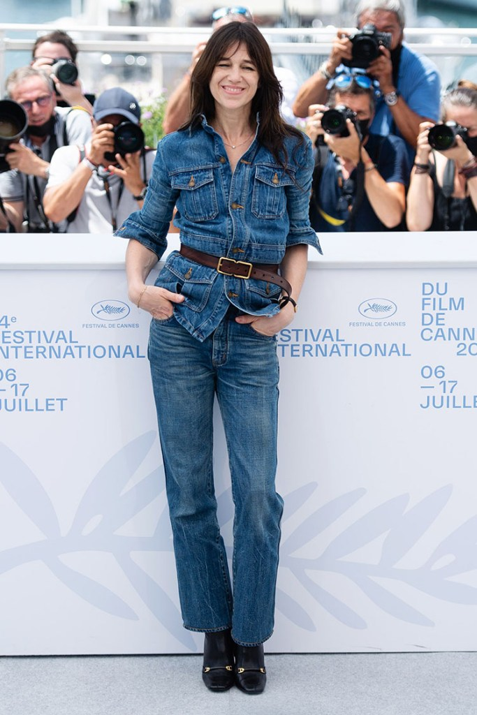 Charlotte Gainsbourg Wore Saint Laurent To The 'Jane Par Charlotte' Cannes Film Festival Photocall