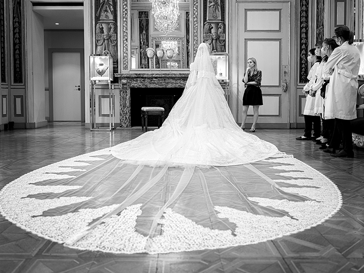 Kitty Spencer Wed Michael Lewis In Dolce & Gabbana Alta Moda