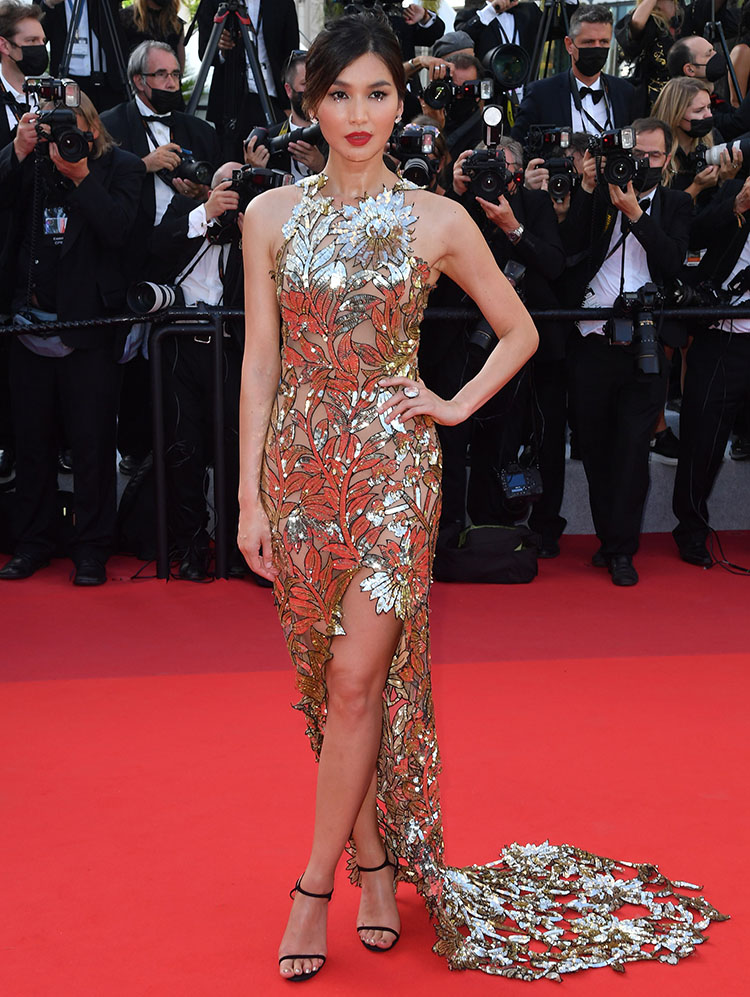 Gemma Chan Wore Oscar de la Renta To The 'OSS 117: From Africa With Love' Cannes Film Festival Premiere