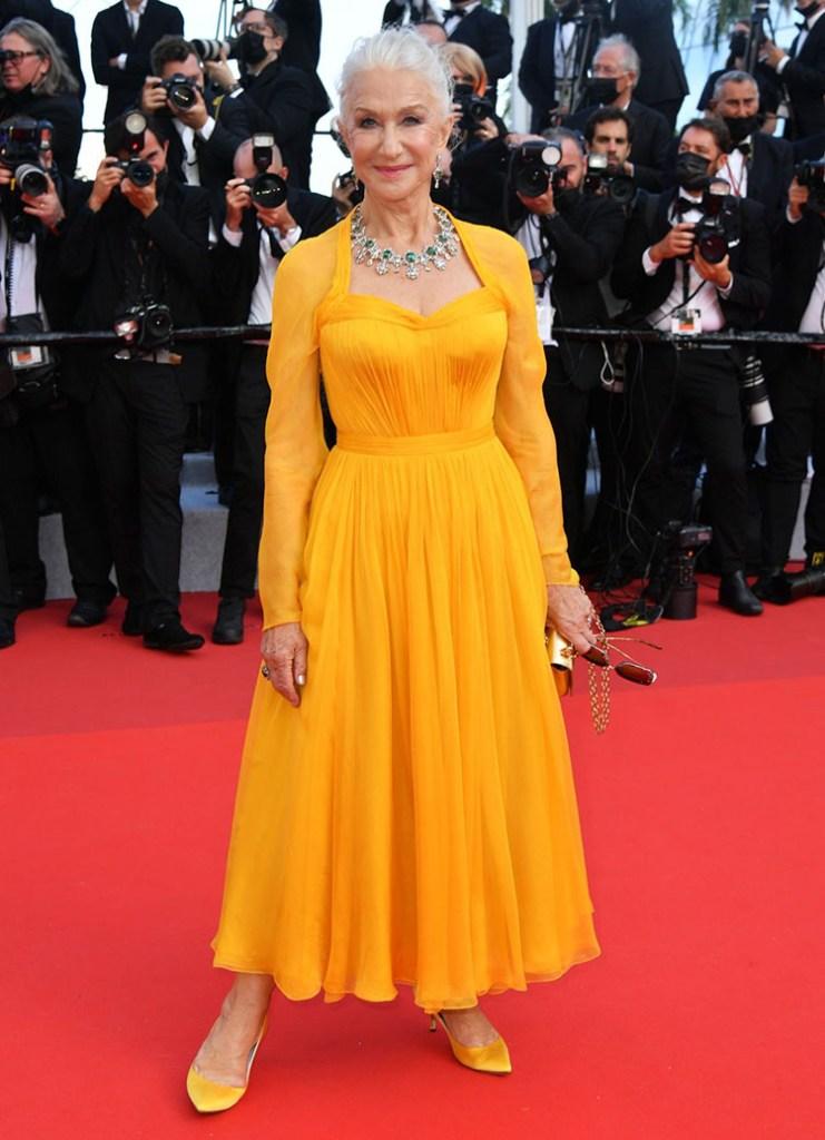 Helen Mirren Wore Dolce & Gabbana To The 'Annette' Cannes Film Festival Premiere
