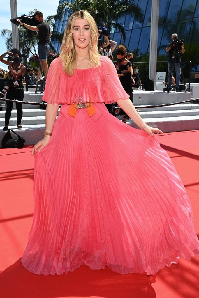Honor Swinton Byrne Wore Gucci To The 'Memoria' Cannes Film Festival Premiere