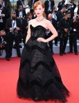 Jessica Chastain Wore Christian Dior Haute Couture To The 'Annette' Cannes Film Festival Premiere