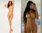 Kylie Jenner's Good American Metallic Bikini Top & Bottoms