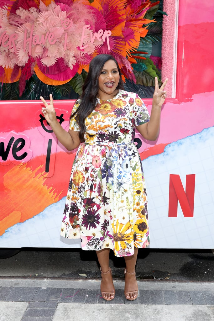 Mindy Kaling Wore Oscar de la Renta To The 'Never Have I Ever' Season Two Launch