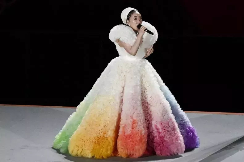 Misia Wore Tomo Koizumi  Performing For The Tokyo 2020 Olympics Opening Ceremony