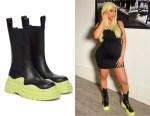 Cardi B's Bottega Veneta BV Tire Leather Ankle Boots